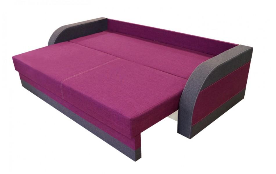 """Диван - кровать """"Аджио"""" Н (жаккард бордо / жаккард серый)/осн."""