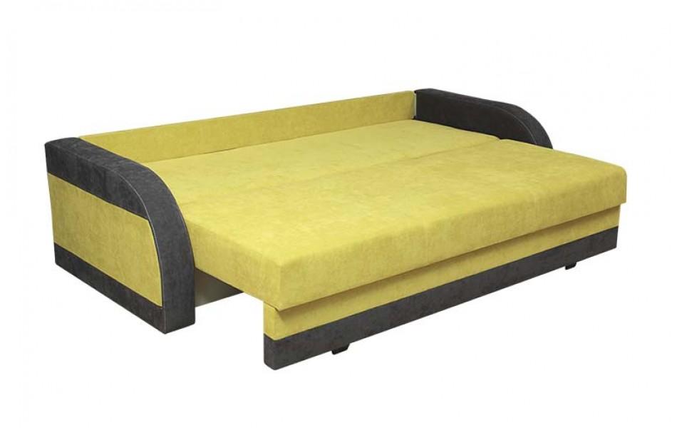 "Диван - кровать ""Аджио"" Н (велюр текстура лайм / велюр текстура какао)/осн."