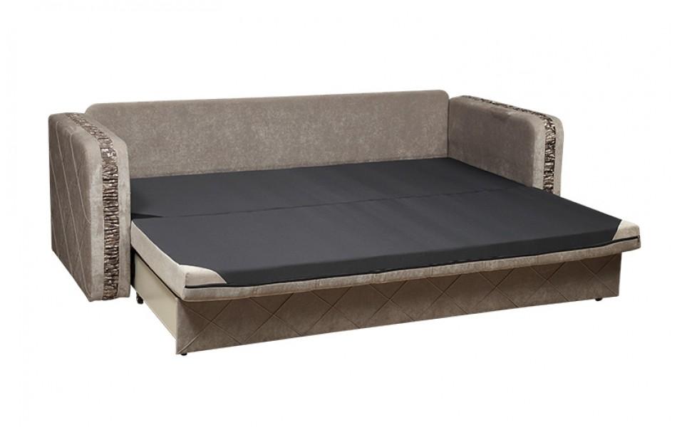 """Диван - кровать """"Енисей"""" (Восток) (микровельвет светло - серый/жаккард виши/велюр шик)/осн."""
