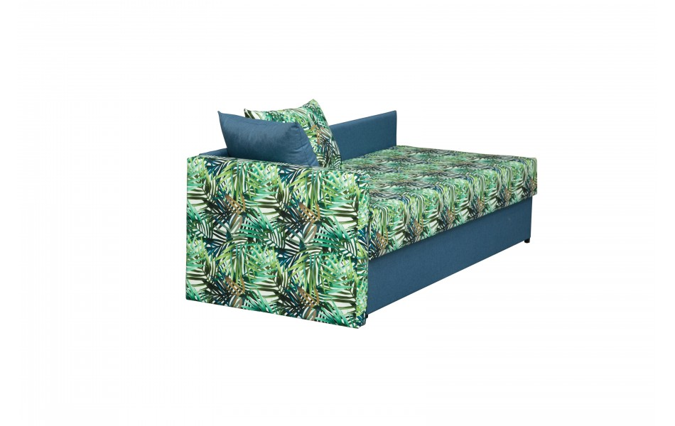 """Диван - кровать """"Мальта"""" (микровелюр тропики / жаккард джинс)"""