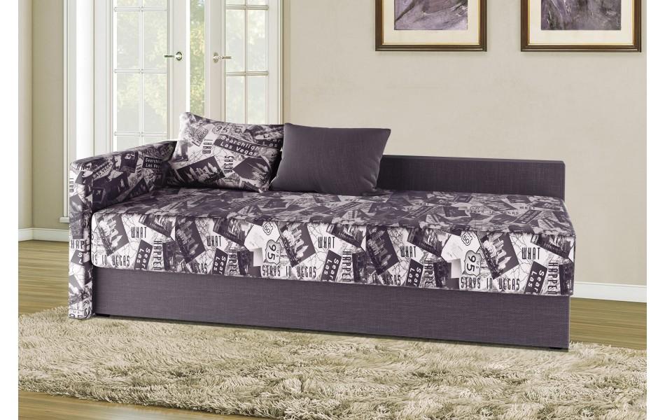 """Диван - кровать """"Мальта"""" (микровелюр Лас Вегас / рогожка виноград)/осн."""