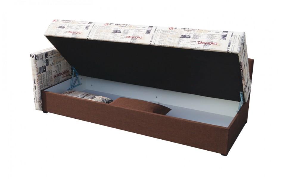 """Диван - кровать """"Мальта"""" (микровелюр тревел голд / велюр текстура коричневый)/осн."""