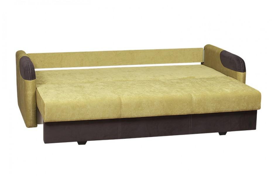 """Диван - кровать """"Наоми"""" (велюр текстура лайм/велюр графит)/осн."""