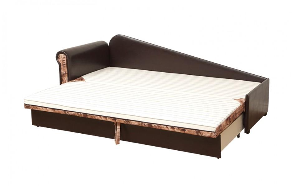 """Диван - кровать """"Троя"""" (велюр текстура какао / подушки - думки микровелюр тревел голд) Комбинация №1/осн."""