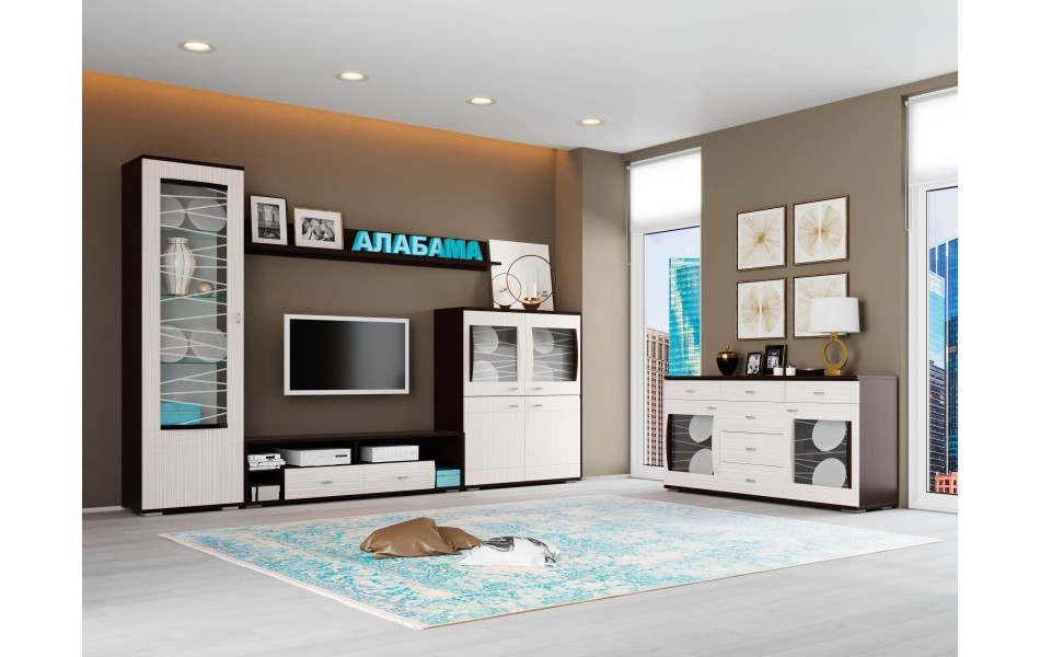 Модульная гостиная «Алабама» комплектация 5
