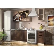 Кухонный гарнитур «Вика Кофе» (ЛДСП, фотопечать)