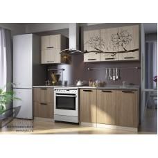 Кухонный гарнитур «Вика Цветок» (ЛДСП, фотопечать)