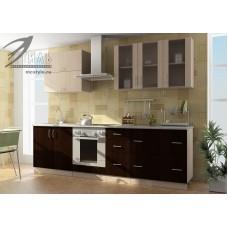 Кухонный гарнитур «Виола» (дуб молочный/венге)