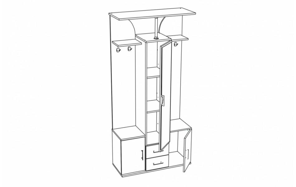 Шкаф комбинированный « Кармен-6»