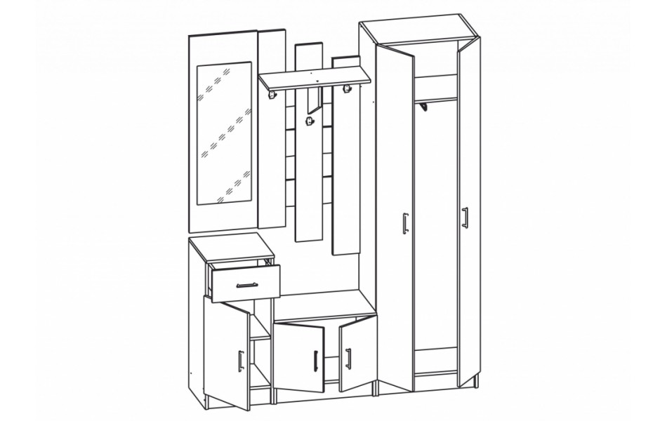 Шкаф комбинированный « Виола-4»