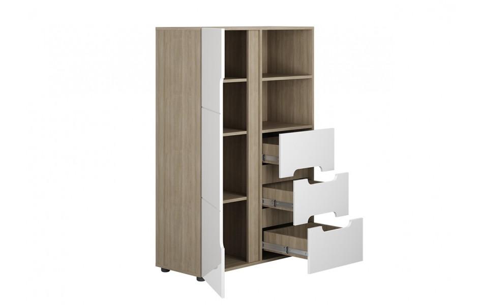 Шкаф одностворчатый комбинированный «Палермо-3»