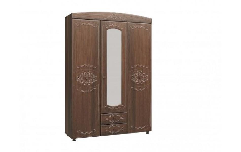 Шкаф трехдверный с зеркалом «Каролина»