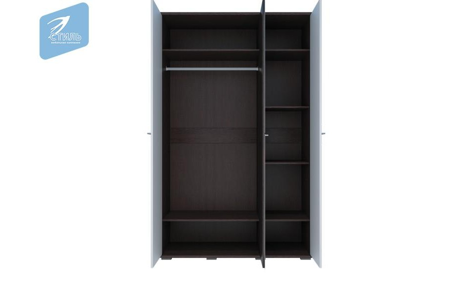 Шкаф трехстворчатый МДФ + 1 зеркало «Луиза»