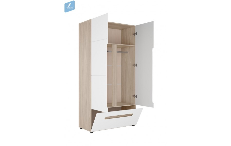 Шкаф двухстворчатый комбинированный  «Палермо 3»