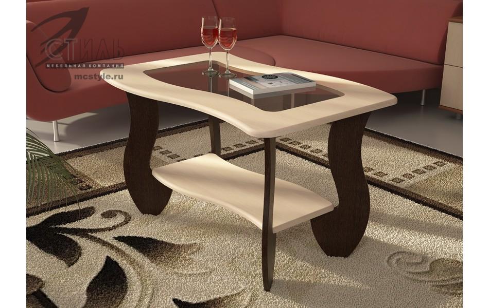 Журнальный стол № 3 с прямоугольным стеклом