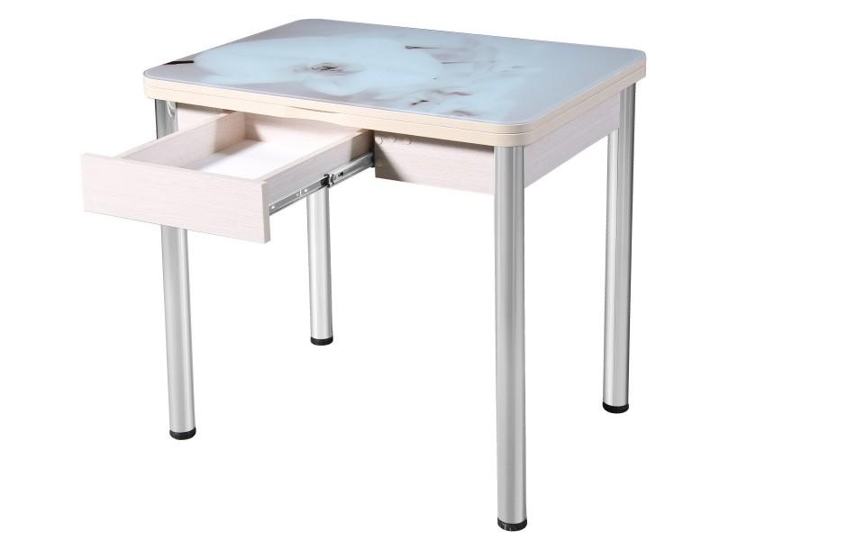 Стол поворотно-раскладной «Ника» с ящиком